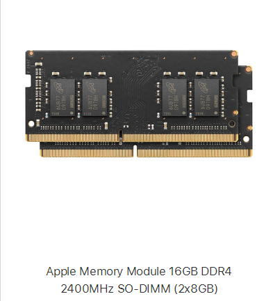 The five memory sticks on apple's shelves are all so-dimm !! - Image